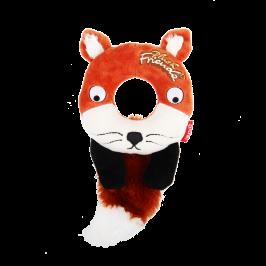 플러시 프렌즈 - 강아지 천연고무 장난감 도넛 폭스