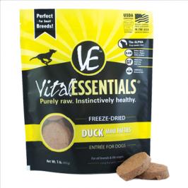 바이탈에센셜 강아지 동결건조 사료 - 오리, 칠면조, 치킨 패티 453G